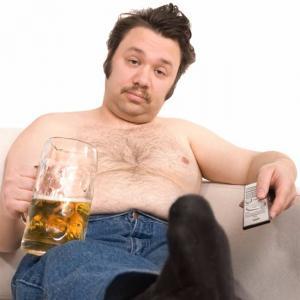 жирный мужчина