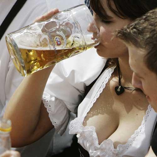 Пива и женщина