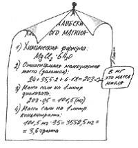 Расчет навески хлористого магния