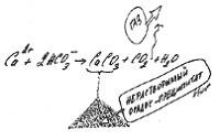 Образование нерастворимого осадка при реакции бикарбоната натрия с хлоридом кальция